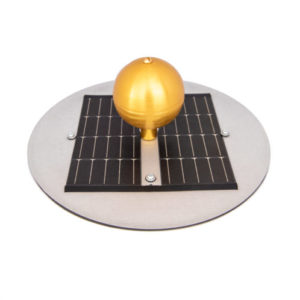 Gold flagpole solar top light