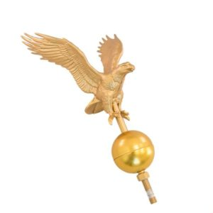 Golden eagle flagpole topper