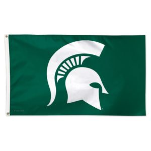 Michigan State Spartan flag