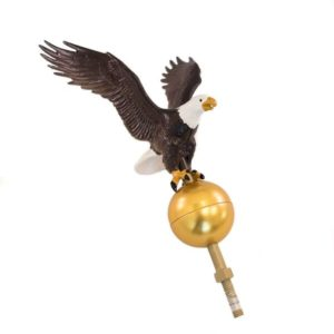 Natural Eagle Flagpole Topper